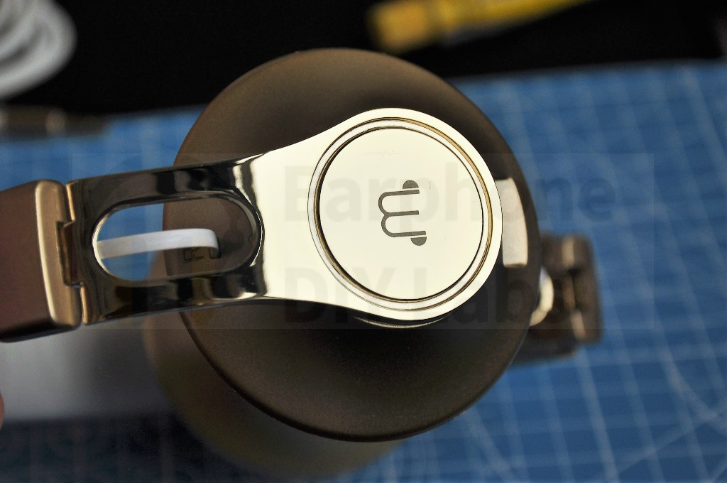 40mm golden metal headphone shell