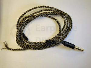 Manual Braided OCC Earphone Cable with 3.5mm plug
