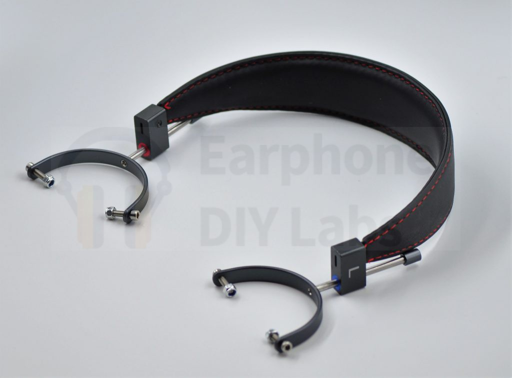 Black headband with deep gray brackets