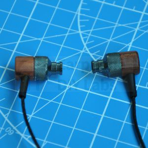 Brazil Rosewood Black In-Ear Open End Earphone Shell for 9mm driver unit