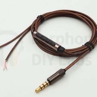 Silver Plated OFC Earphone Cable with 3.5mm plug and MIC